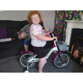 Lovely new bike for Rebecca