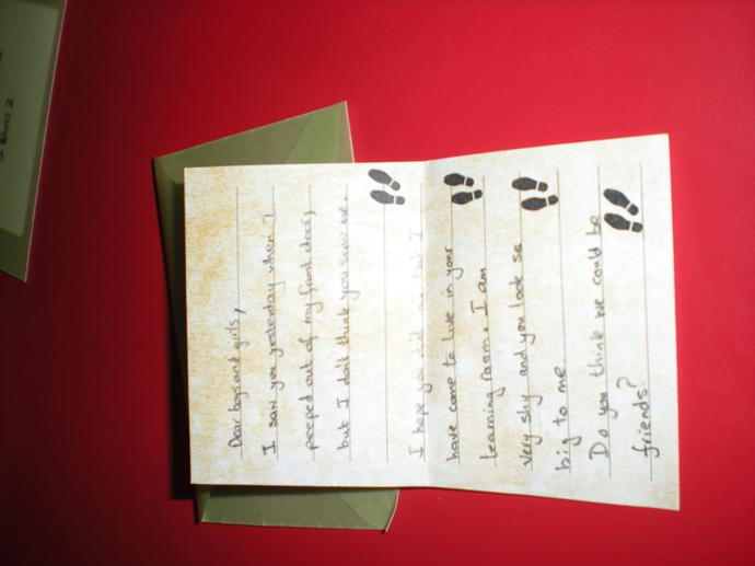 The first letter we found from Pob and Betsy.