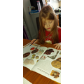 Scarlett doing her research