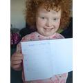 Spelling sentences - Rebecca