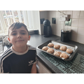 Mason's finished Egyptian bread - yum!