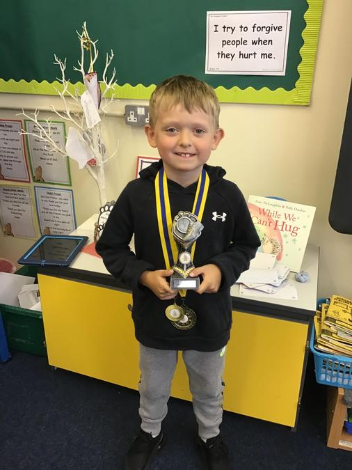Well done Carter! Our fastest class 2 boy and fastest year 2 overall runner!