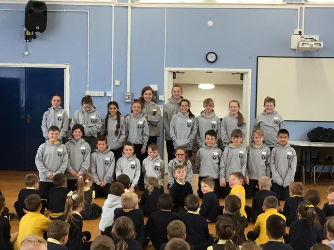 Year 6 received their leavers' hoodies - Thank you