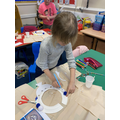 Millie - making Egyptian necklaces