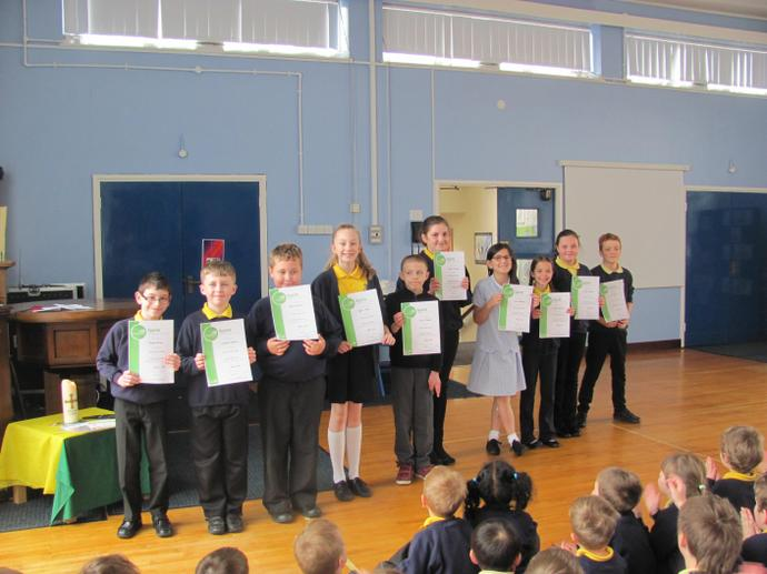 Sports leaders have received certificates too!