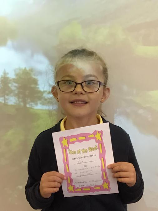 Star of the week! Well done Evie.