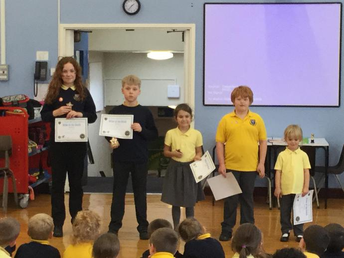 Writer of the month awards