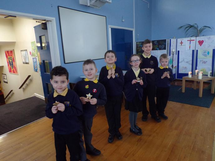 Trophy winners for excellent homework