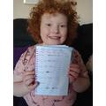 Rebecca's tally chart