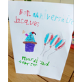 MFL - James' French Birthday card