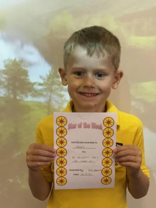 Star of the week! Well done Noah.