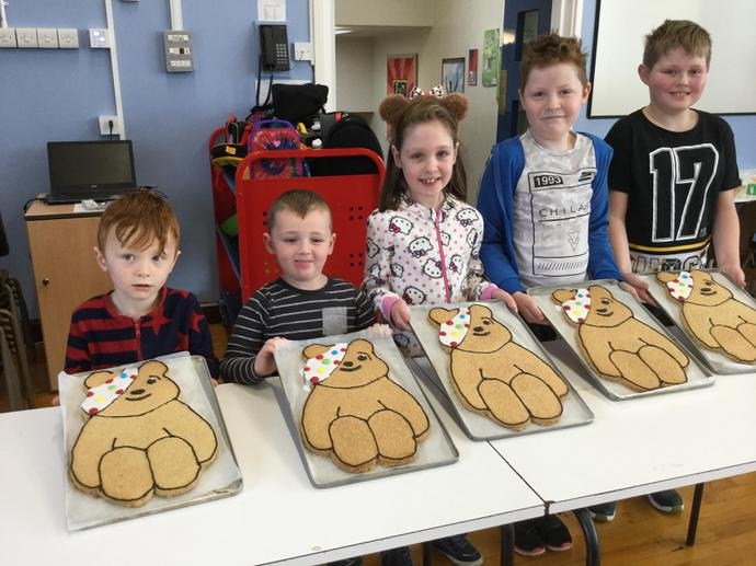 Pudsey Biscuit Winners - Thank you Mrs Tully