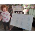 Excellent maths work Rebecca