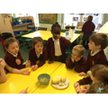 Potato and apple tasting