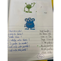 Y5 and Y6 have been creating conversations between two aliens.