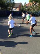 Year 6 Football Skills with the Manchester United coaches 3
