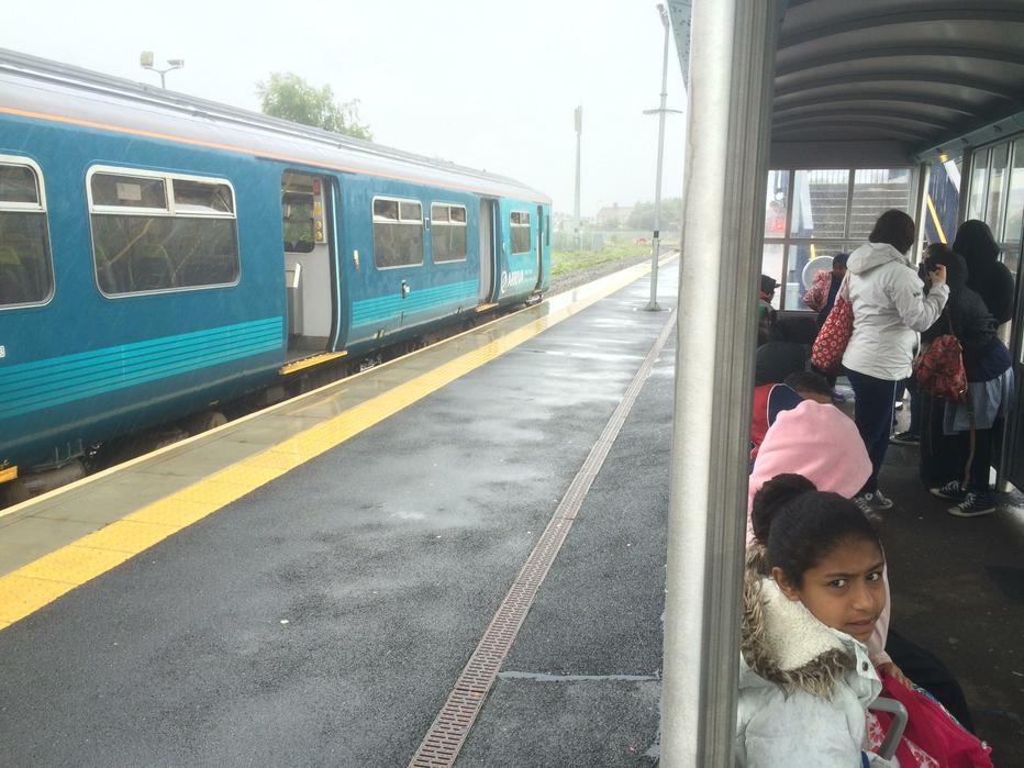 Train transfer.