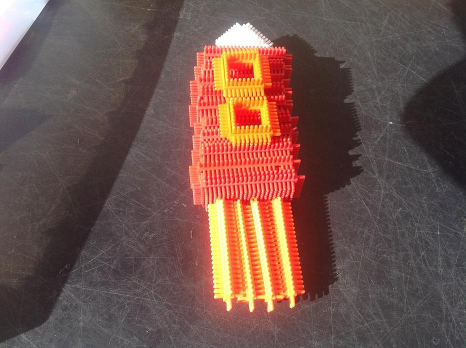 We made rockets using stickle bricks!