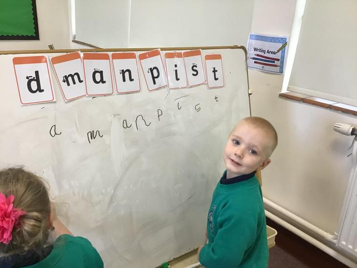 Practising the letters we have learned