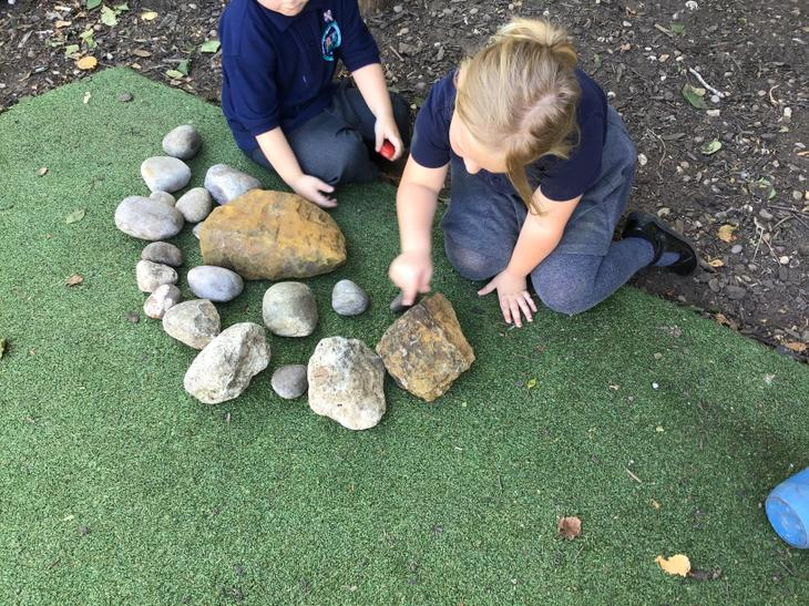 Counting stones outside