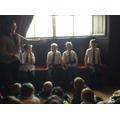 The 4 children before their Tudor makeover.