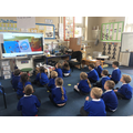 Our Mystery Reader sharing a story