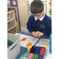 We practiced number bond skills by using numicon to find ways to make a number.