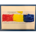 We started our Art project looking at primary colours