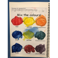 We then looked at secondary colours and how to mix them