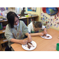 Making clay teeth as part of our science learning