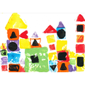 We applied our skills by using shapes to print and create our own version of 'Cold City'.