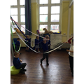 Performing dances using simple movement patterns