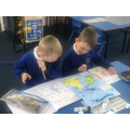 We practiced our Geography skills by using an atlas to label capital cities in the UK