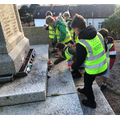 We laid poppies on the War Memorial for Remembrance Day