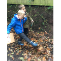We went on a wellie walk to spot signs of Autumn
