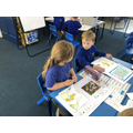 We practiced our Geography skills by using an atlas to label the different continents