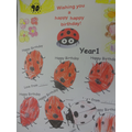 Birthday wishes from our Year 1 Ladybirds