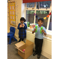 Our Y3 Owls preparing our charity donations for Nightsafe!