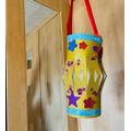 Making a Chinese lantern