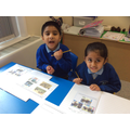 Year 1 completing timelines in history.