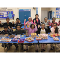 The children held a cake sale!