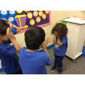 Our children completing freeze frames about anti-bullying.