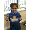 Our Stars of the week receive a certificate, pencil and chocolate
