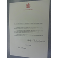 Our Letter from the Queen
