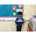 Our Superstar this week for a big improvement with his presentation!