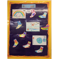 Our Y3/4 Falcons lovely Odd Socks Display!