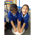 We made snow in Science!