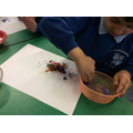 We made melted monster pictures.
