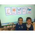 Sounding out and blending Jolly Phonics activity