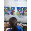 Reading books on Reading Eggs